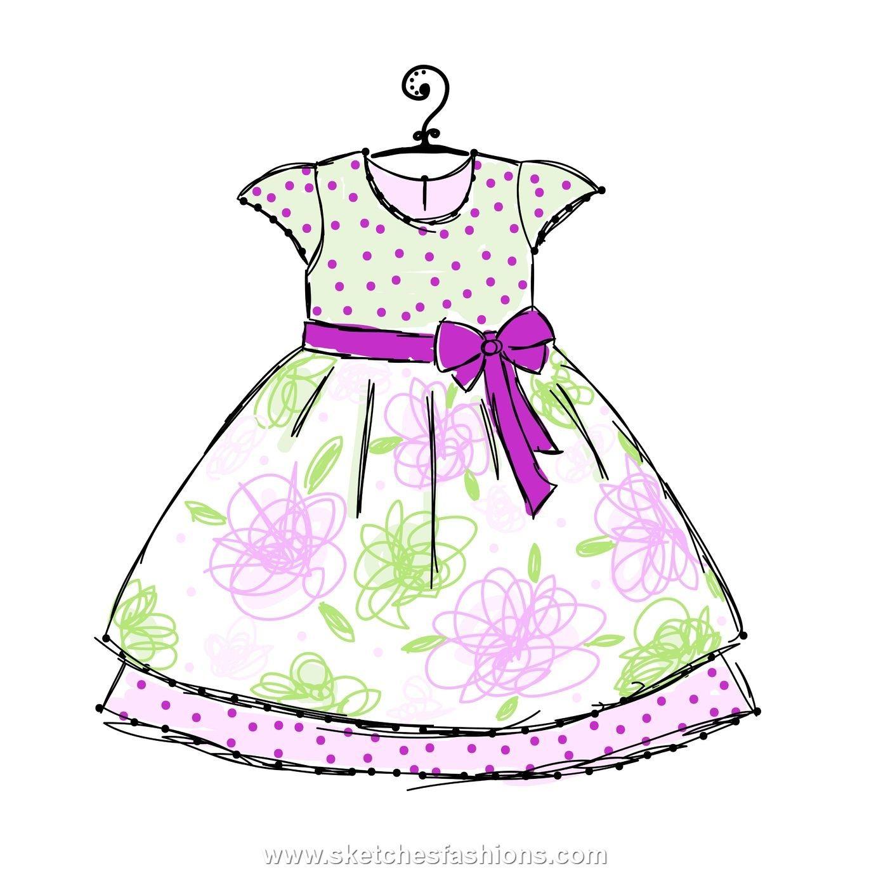 baby dress fluffy sketch in 2019.