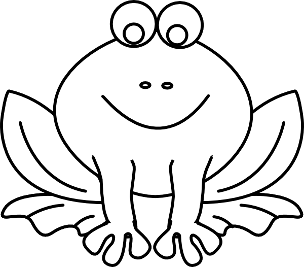Frog Outline Clip Art at Clker.com.