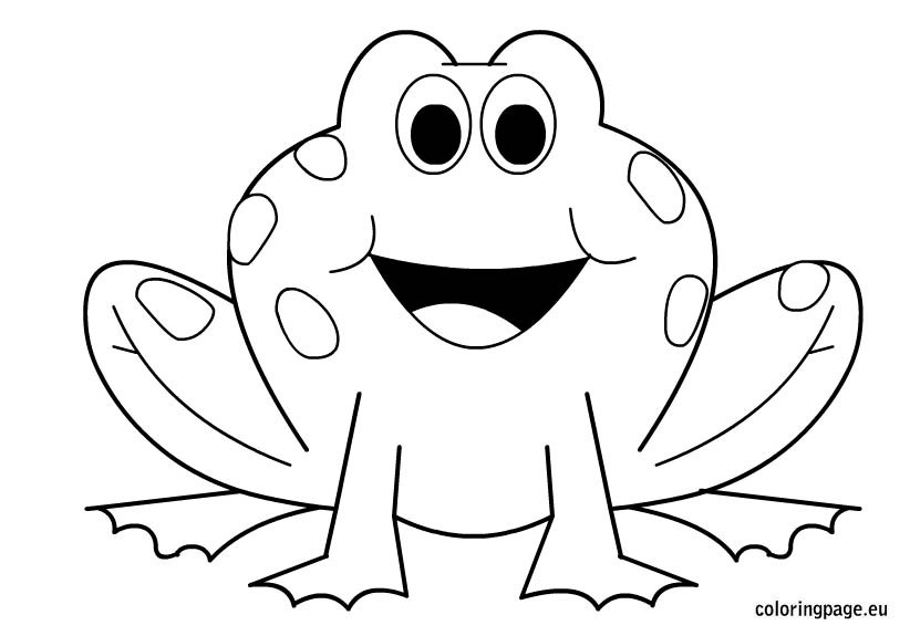 clipart of frog outline - Clipground