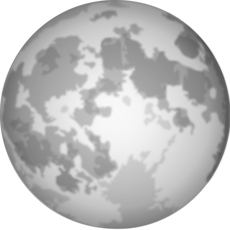 Free Clipart: Halloween Bright Full Moon.