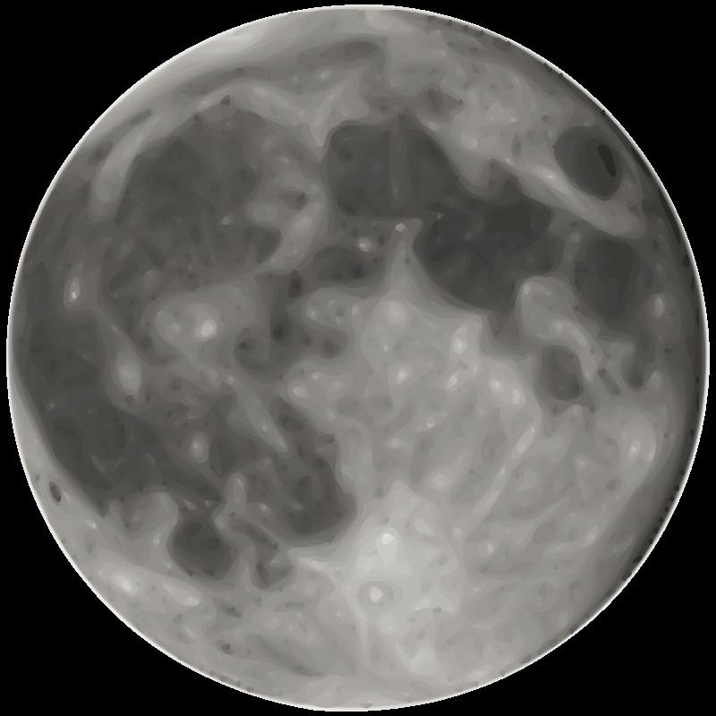 Free Clipart: Full Moon.