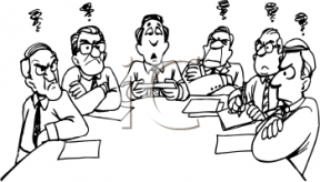 Clipart Of Funny Looking People In Small Town Meetings Meetings.