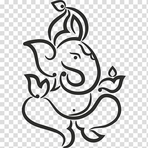 Ganesha Drawing Deity, ganesha transparent background PNG.