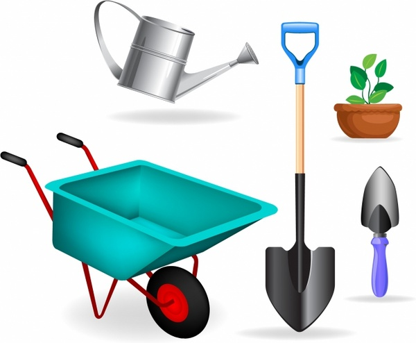 Garden Equipment Clipart.