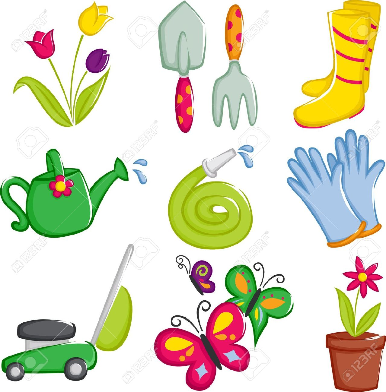 Gardening tools and equipment clipart 2 » Clipart Station.