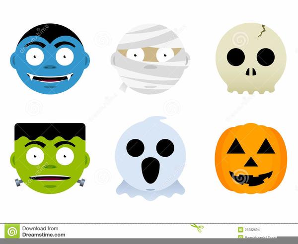 Halloween Ghosts Clipart.