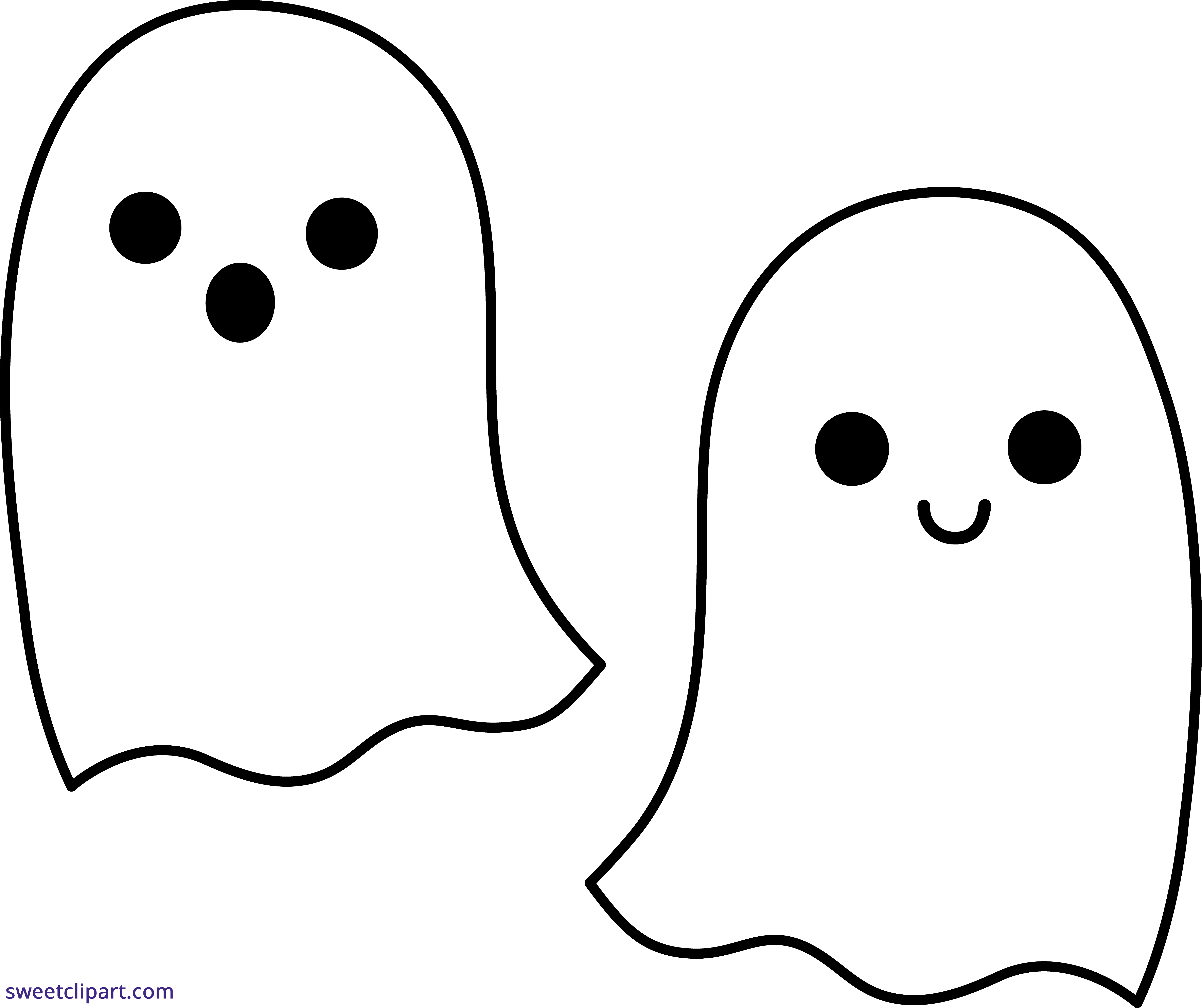 Halloween Ghosts Duo 2 Clipart.