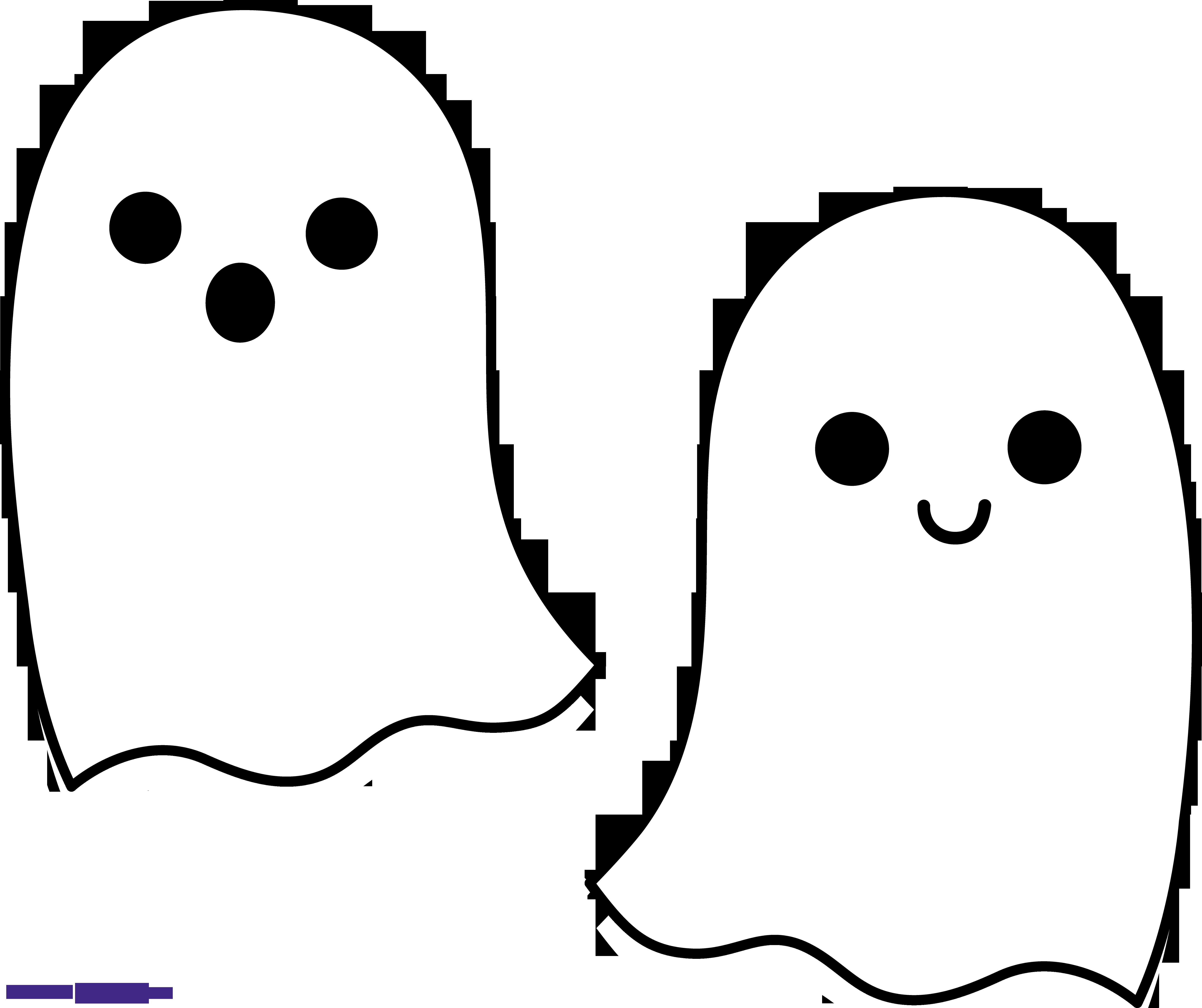 Halloween Ghosts Duo 2 Clipart.