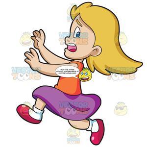 A Girl Running Away.