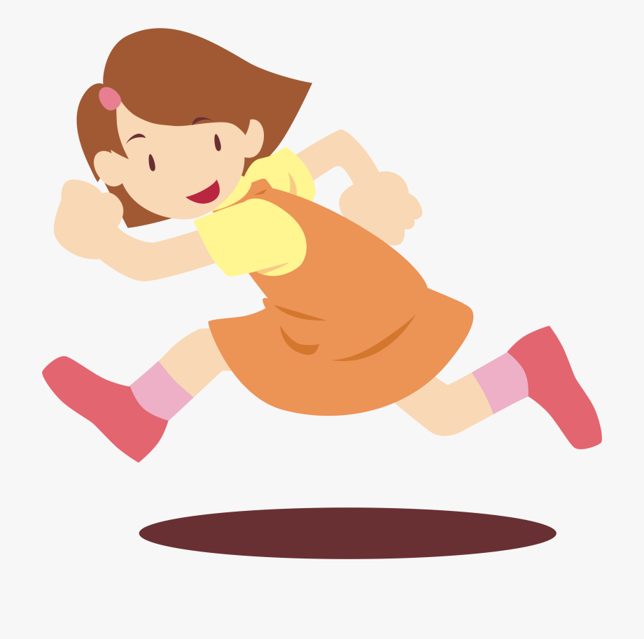 Girl Running Big Image Png Ⓒ.