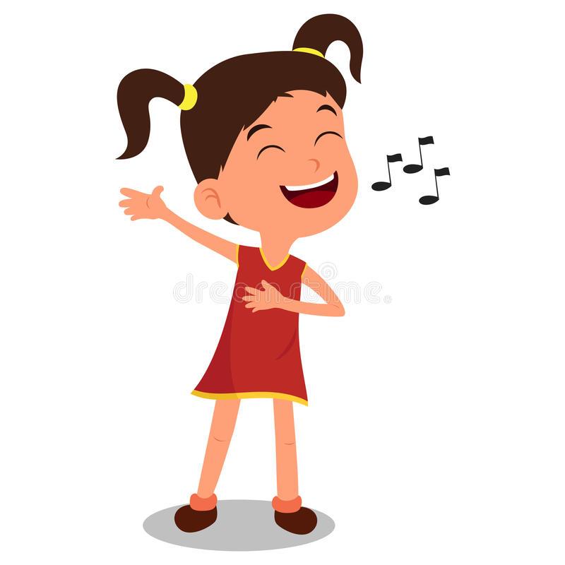 Girl Sing Stock Illustrations.