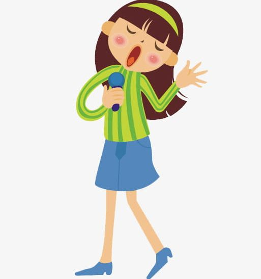 A Girl Singing With A Microphone PNG, Clipart, Beautiful, Beautiful.