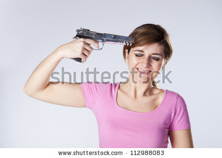 Suicide Gun Stock Images, Royalty.