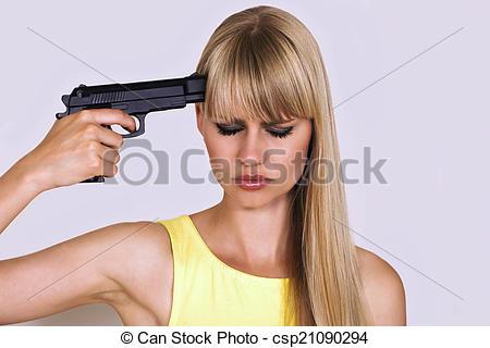 Stock Photographs of Shall I shoot myself?.