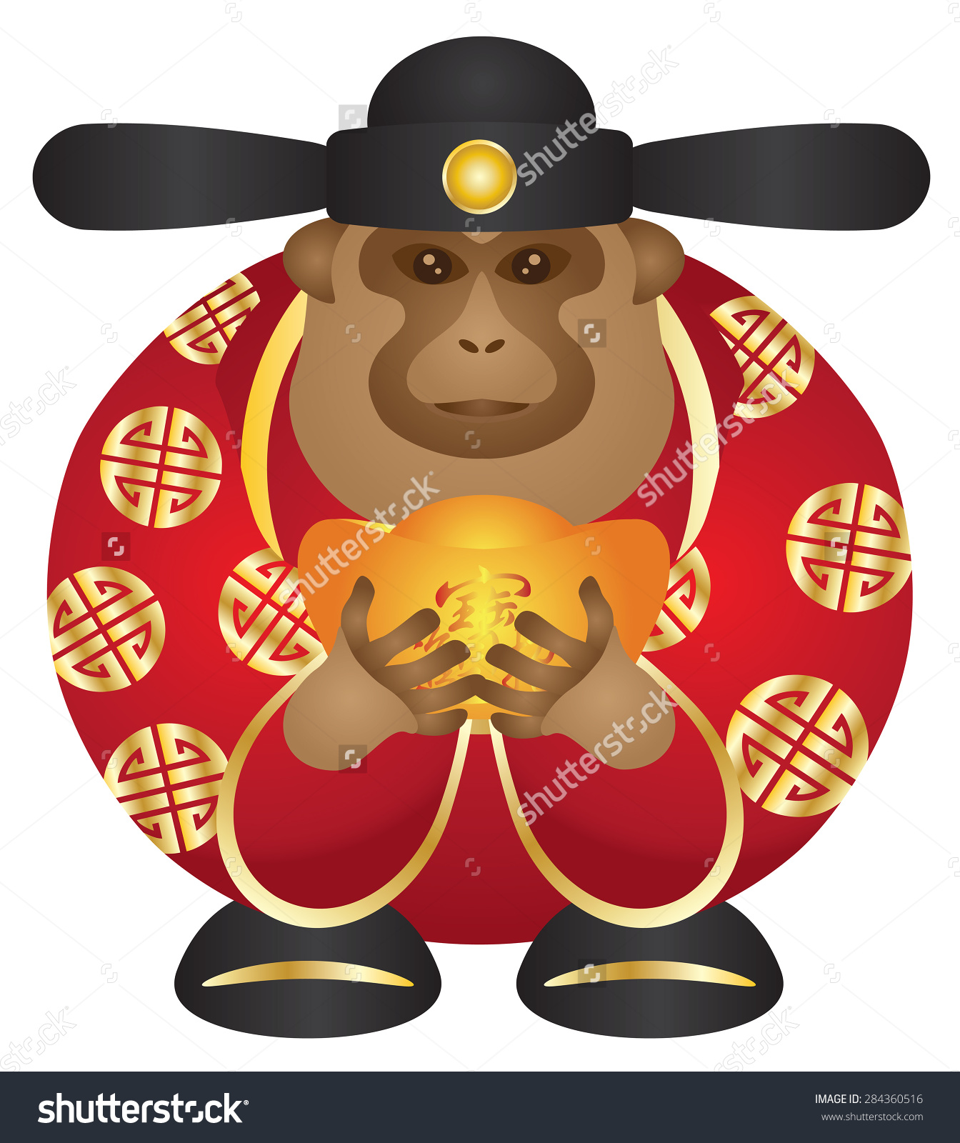 2016 Chinese Lunar New Year Money Stock Illustration 284360516.