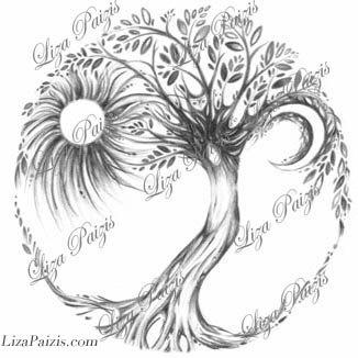 Tree of Life art print dryad tree spirit art print from the.