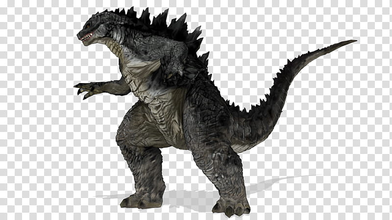 MMD Godzilla Battle Stance transparent background PNG.