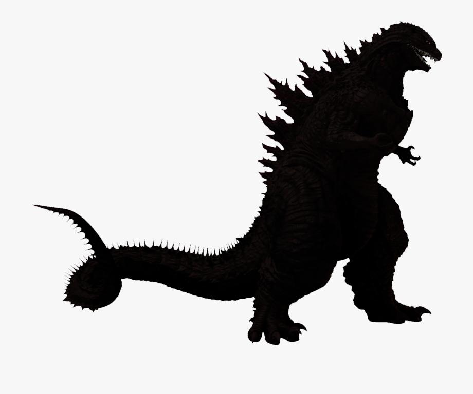 Godzilla Reboot Silhouette Kaiju Clip Art.