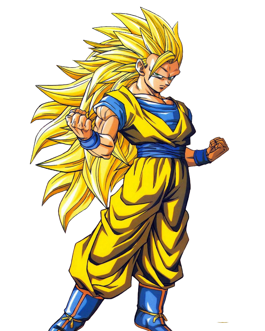 Clipart Of Goku In Super Saiyan 10.