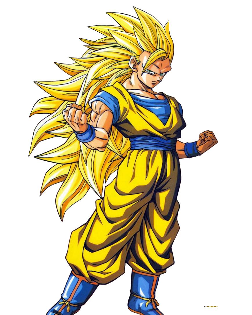 Clipart Of Goku In Super Saiyan 10.