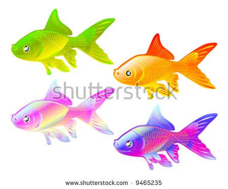 Color Gold Fish Design Ellements Decoration Stock Vector 9465235.