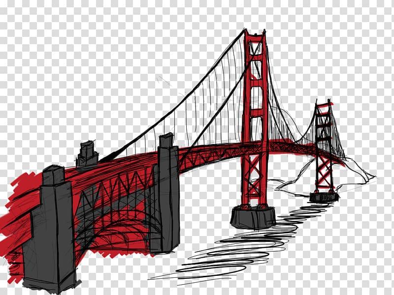 Golden Gate Bridge Landmark, gate transparent background PNG.