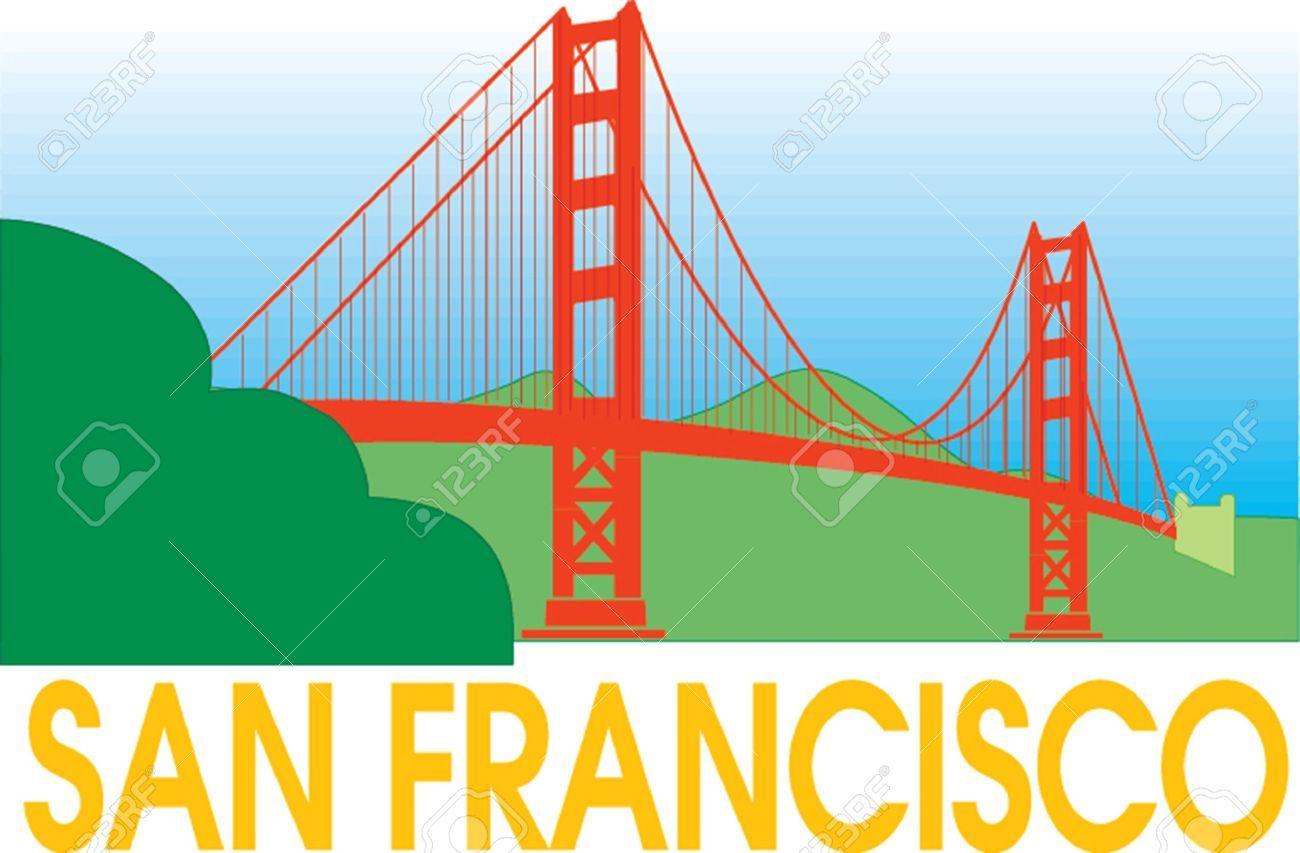 San francisco golden gate bridge clipart.