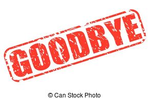 Clipart of Goodbye Text.