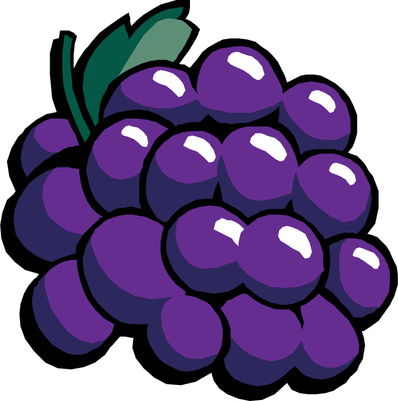 Free Clipart: Grapes.