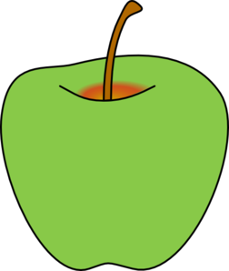 Green Apple Clip Art at Clker.com.