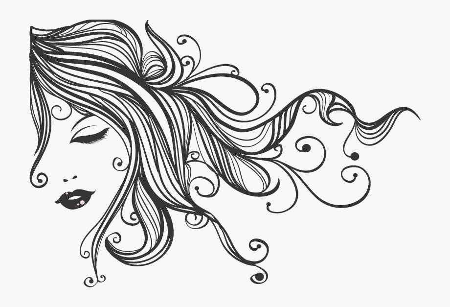 Cosmetology Drawing Hair Stylist.