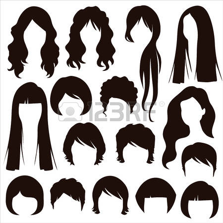 17,497 Hairstyle Silhouette Cliparts, Stock Vector And Royalty.