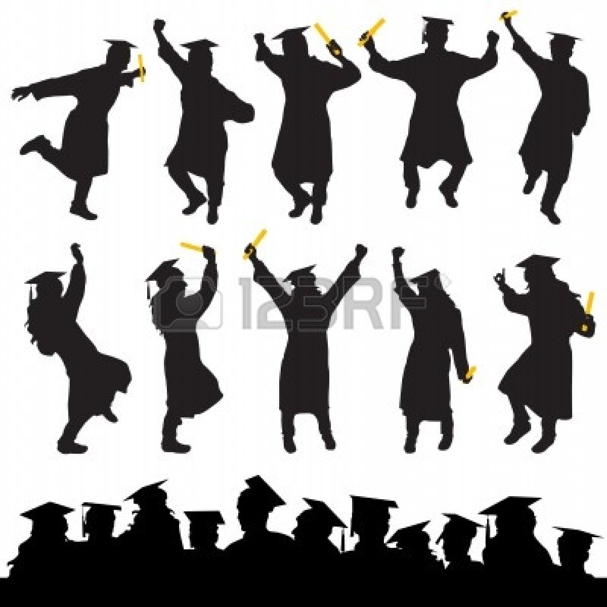 free high school graduation clip art.