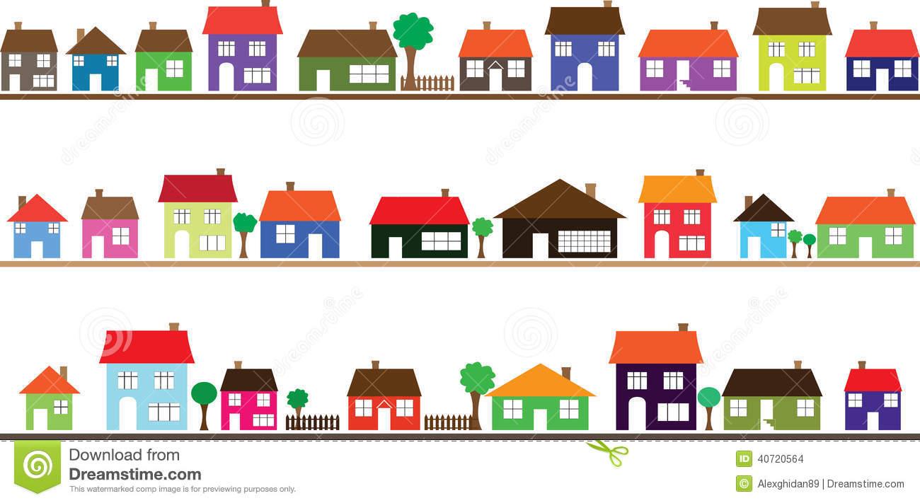 Clip Art Neighborhood Homes.