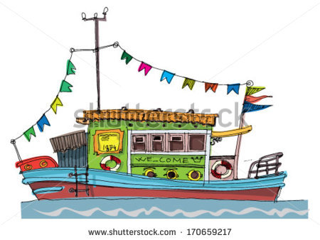 Houseboat Stock Vectors, Images & Vector Art.