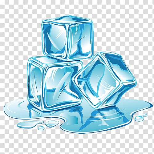 Ice cube , Ice and meltwater transparent background PNG.