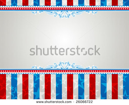 American Patriotic Border Stock Images, Royalty.