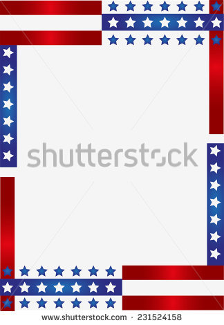 American Flag Border Stock Images, Royalty.