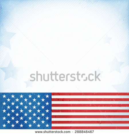 Patriotic Border Stock Images, Royalty.