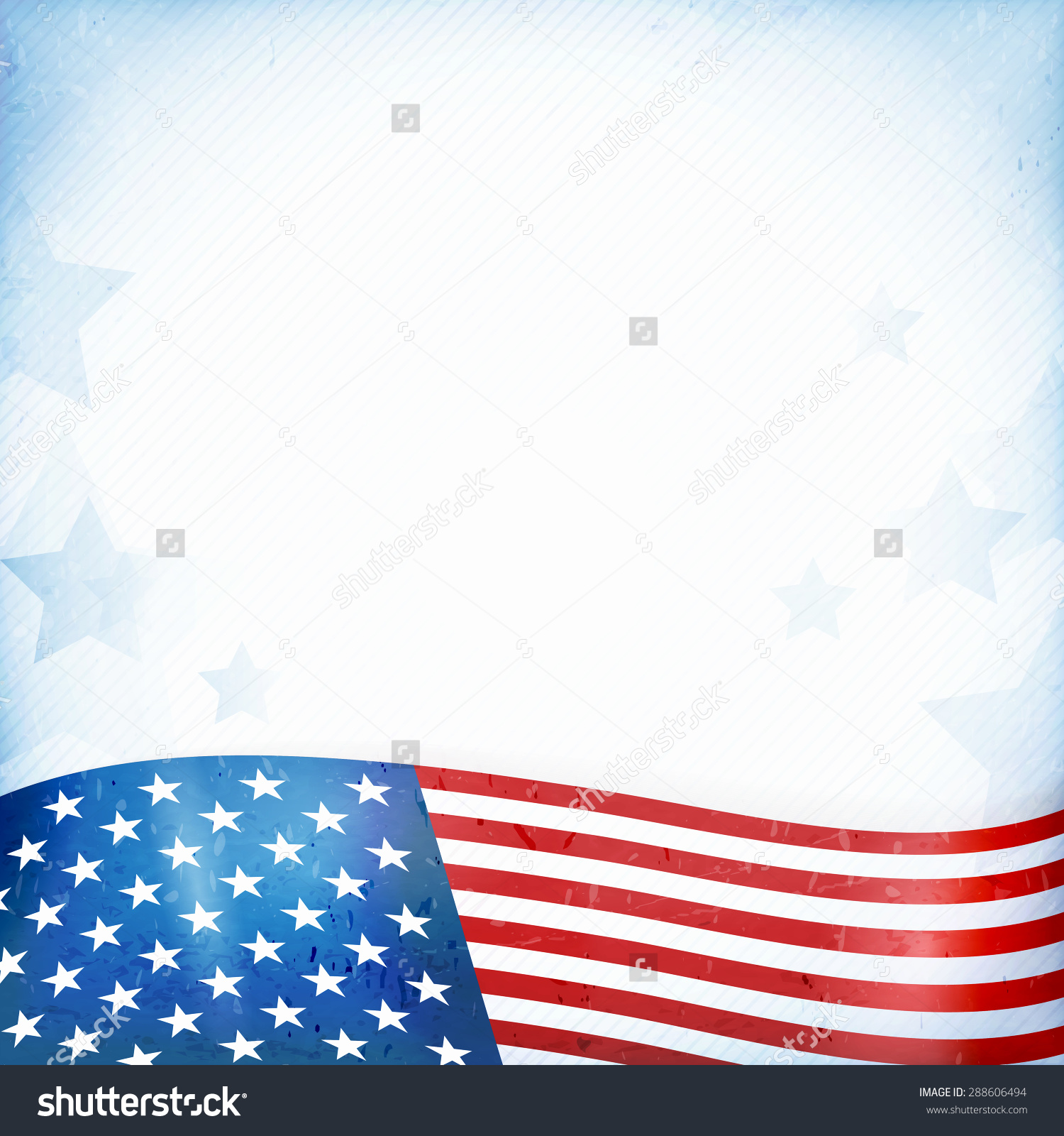 Us American Flag Themed Background Card Stock Vector 288606494.