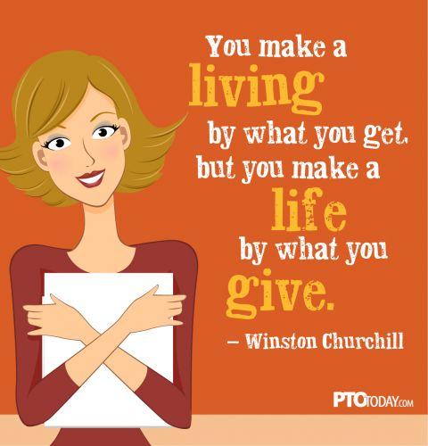 You make a living…