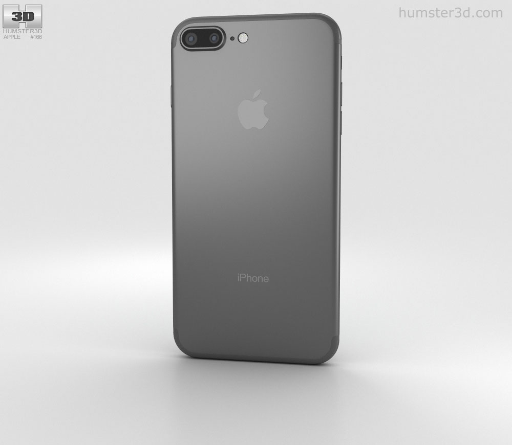 Apple iPhone 7 Plus Black 3D model.