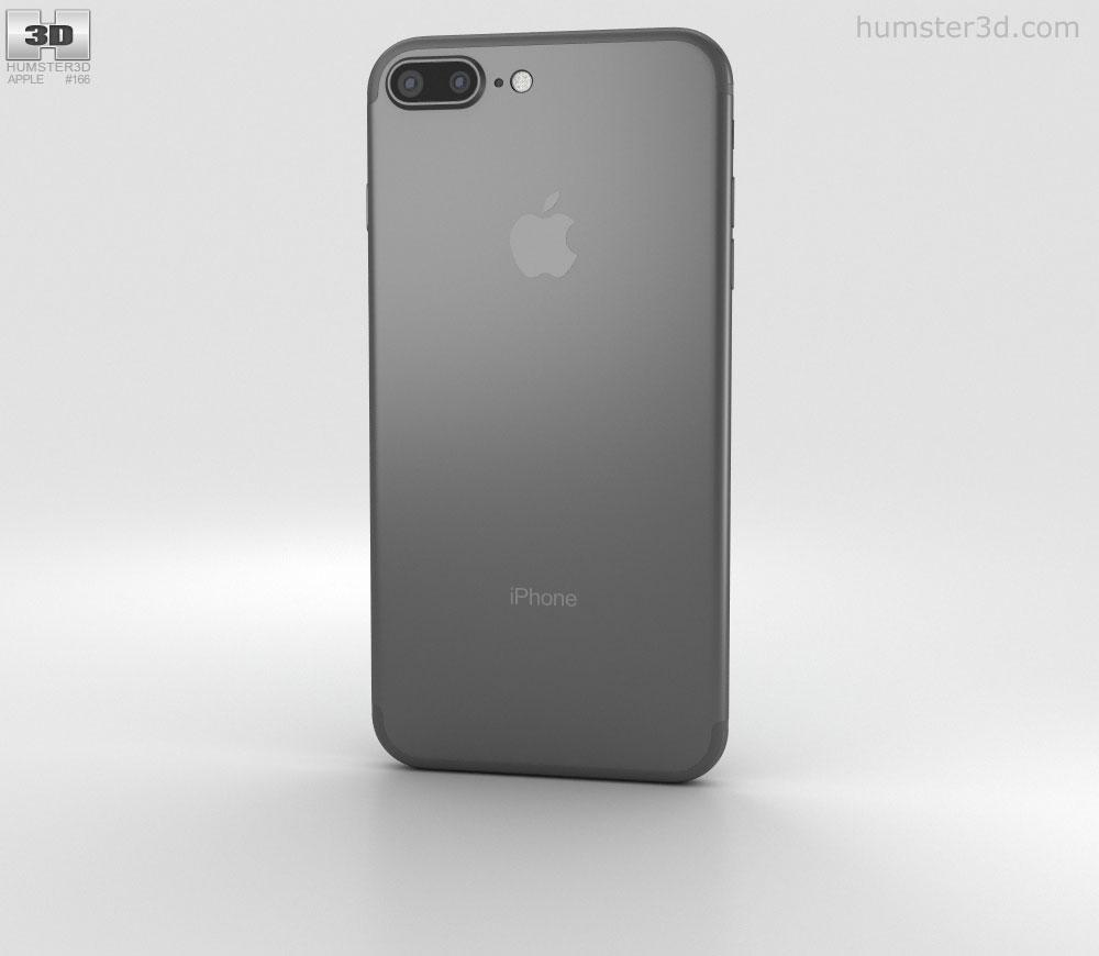 Apple iPhone 7 Plus Black 3D model.