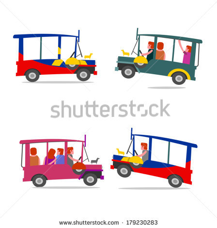 Philippines Jeepney Stock Images, Royalty.