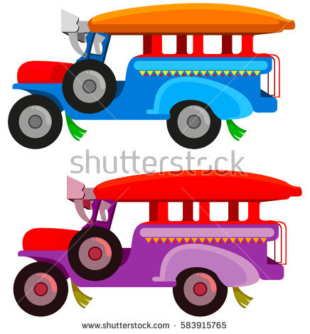 Jeepney Stock Images, Royalty.