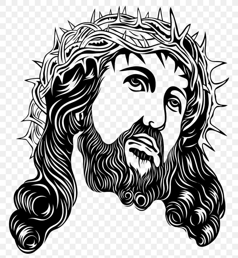 Crown Of Thorns Holy Face Of Jesus Clip Art, PNG, 800x889px.
