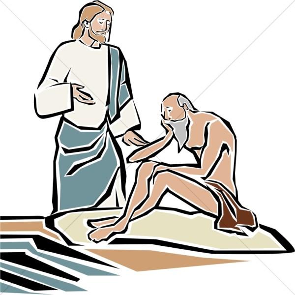 Jesus Heals the Blind Man by Bethsaida Pool.