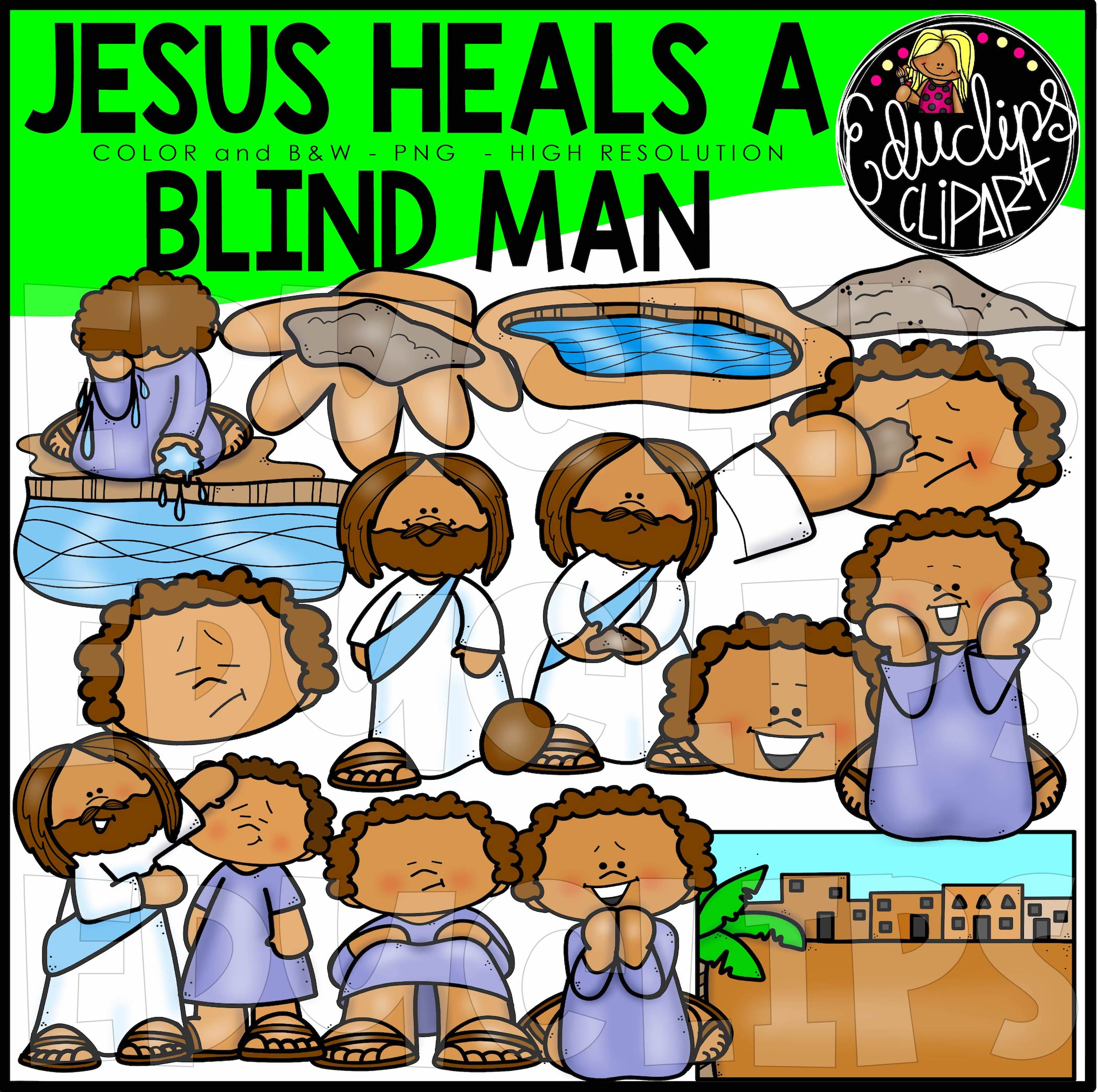 Stories Of Jesus Clip Art Bundle.