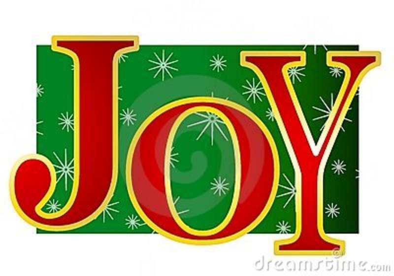 Joy Word Clipart.