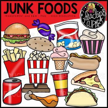 Junk Foods Clip Art Bundle {Educlips Clipart}.